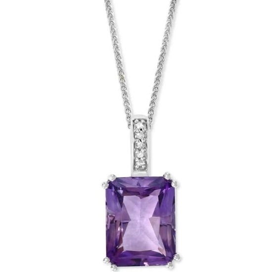 Picture of Lali 14K White Gold Amethyst Pendant