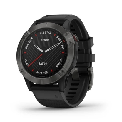 Picture of Garmin fenix 6 Sapphire Watch - Gray with Black Band