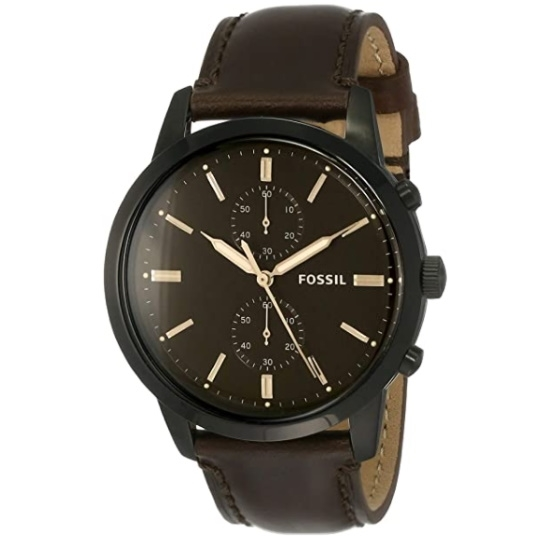 Picture of Fossil Townsman 44mm Chrono Brown Leather Watch