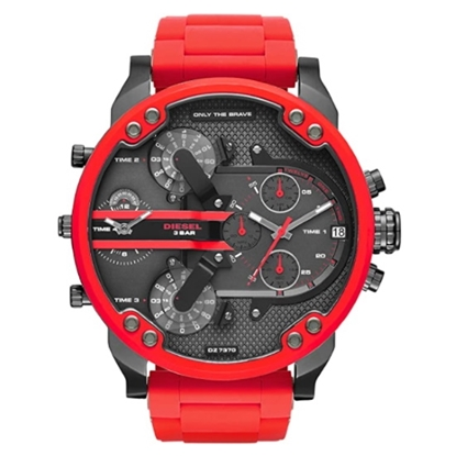Picture of Diesel Men's Chrono Mr. Daddy 2.0 Red Silicone Watch