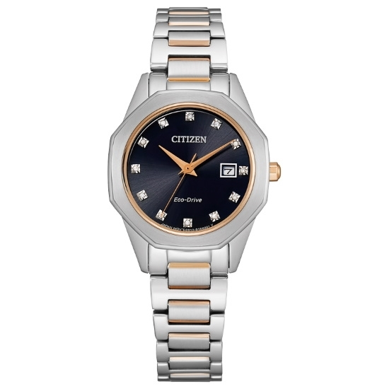 Picture of Citizen Eco-Drive Corso Two-Tone Watch with Black Dial