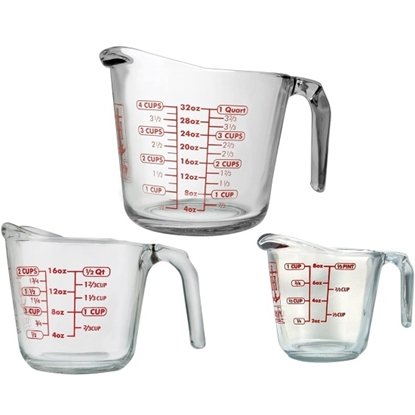 Picture of Anchor Hocking 3-Piece Measuring Cup Set
