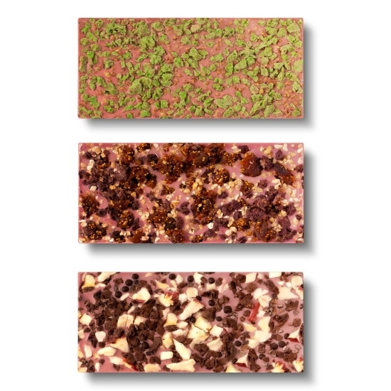 Picture of Flair Maple Wood Box of Ruby Chocolate Bars