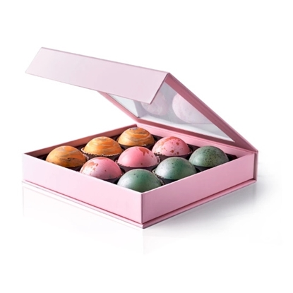 Picture of Flair 9-Piece Belgian Dark Chocolate Truffles Box