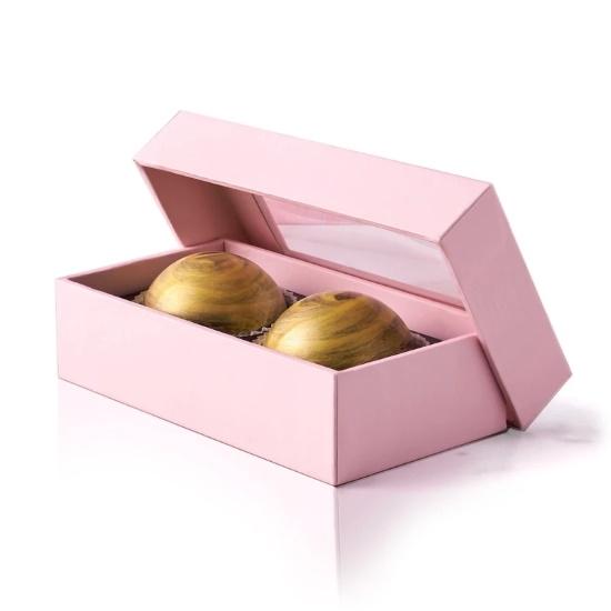 Picture of Flair 2-Piece Pecan Praline Chocolate Truffle Box