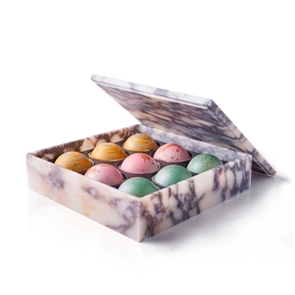 Picture of Flair 9-Piece Marble Box of Chocolate Truffles