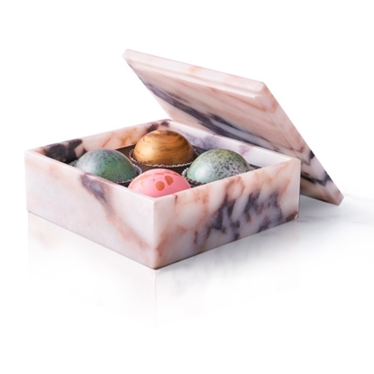 Picture of Flair 4-Piece Marble Box of Chocolate Truffles