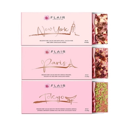 Picture of Flair Three-Bar Ruby Chocolate Set