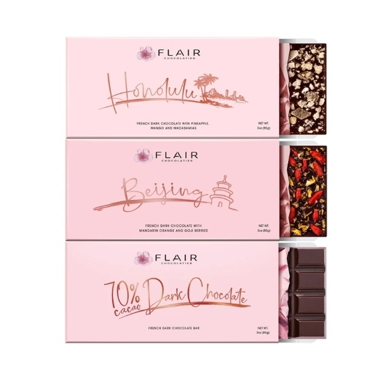 Picture of Flair Three-Bar French Dark Chocolate Set