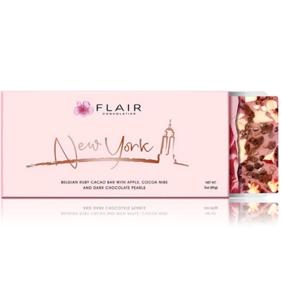 Picture of Flair New York Belgian Ruby Chocolate Bar