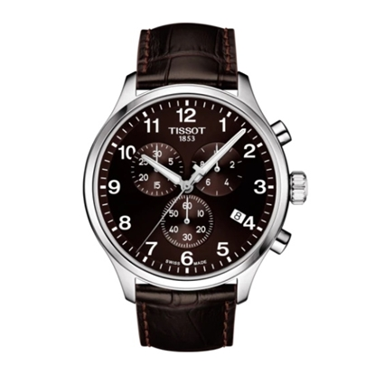Picture of Tissot Chrono XL Watch with Brown Leather Strap & Brown Dial