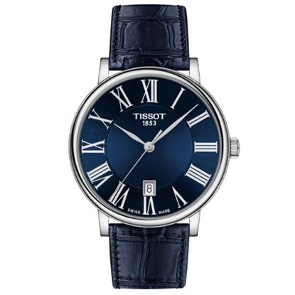 Picture of Tissot Carson Premium with Blue Leather Strap & Blue Dial