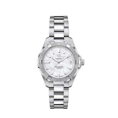 Picture of TAG Heuer Aquaracer Steel Watch with White MOP Dial