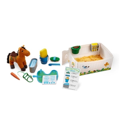 Picture of Melissa & Doug® Feed & Groom Horse Care Play Set