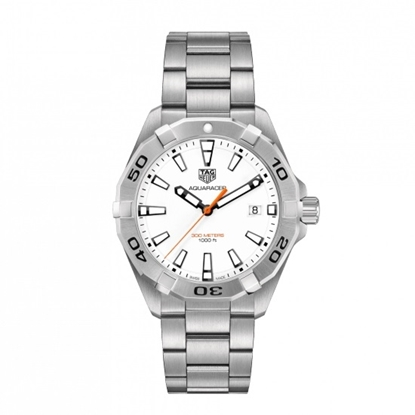 Picture of TAG Heuer Aquaracer Quartz Steel Watch with White Dial