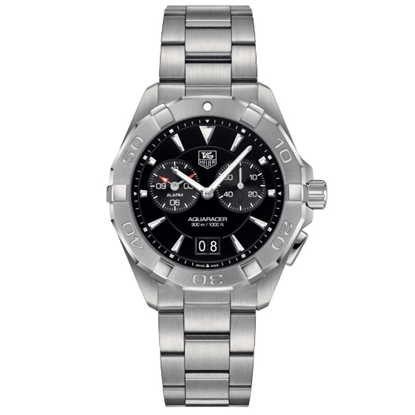 Picture of TAG Heuer Aquaracer Stainless Steel Watch with Black Dial