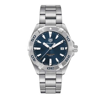 Picture of TAG Heuer Aquaracer Quartz Steel Watch with Blue Dial