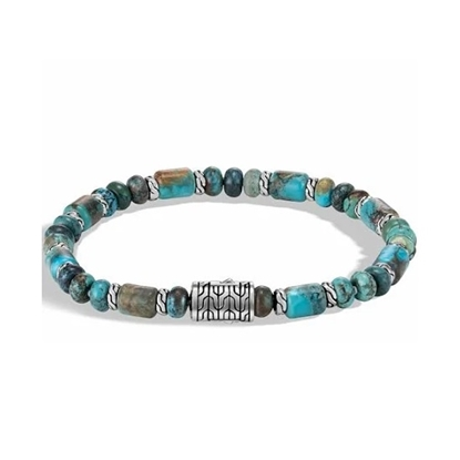 Picture of John Hardy Men's Classic Chain Beads Bracelet- Mixed Turquoise