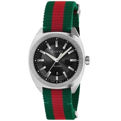 Picture of Gucci GG2570 Large Watch with Striped Strap & Black Dial
