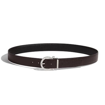 Picture of Salvatore Ferragamo Men's Gancio Buckle Belt - Black/Hickory