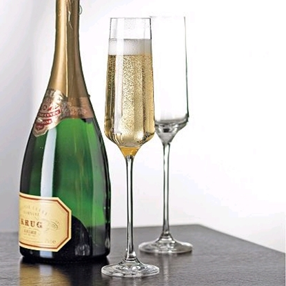 Picture of Wine Enthusiast® Infinity Champagne Flutes -4