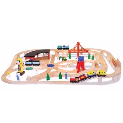 Picture of Melissa and Doug Wooden Railway Set