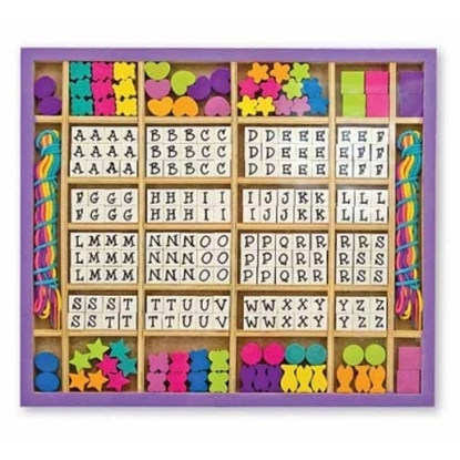 Picture of Melissa & Doug® Deluxe Wooden Stringing Beads Sets