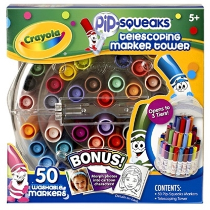 Picture of Crayola® 50-Count Pip Squeaks Telescoping Marker Tower