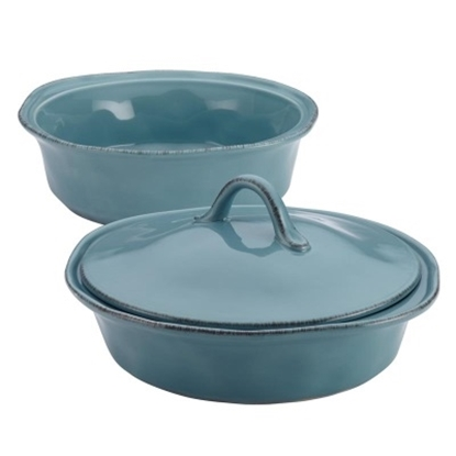 Picture of Rachael Ray Cucina 3-Piece Round Casserole Set - Blue
