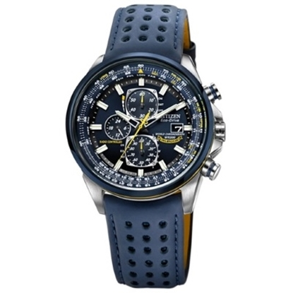 Picture of Citizen Blue Angels World Chronograph A-T Leather Strap Watch