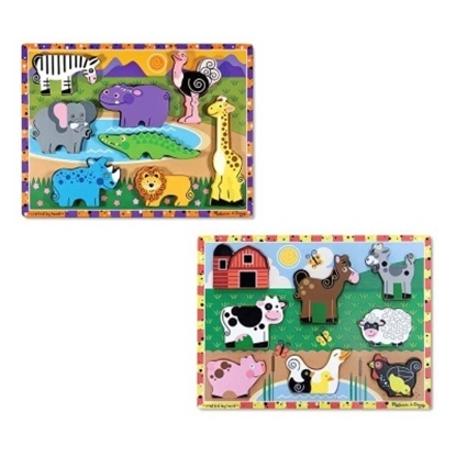 Picture of Melissa & Doug® Chunky Puzzle Set