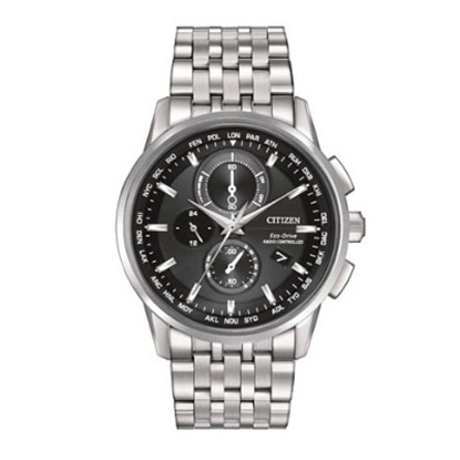 Picture of Citizen Eco-Drive Atomic Chronograph with Black Dial