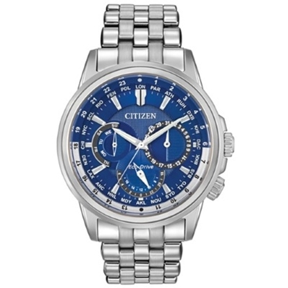 Picture of Citizen Calendrier Stainless Steel Watch with Blue Dial