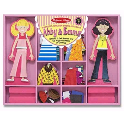 Picture of Melissa and Doug® Abby & Emma Magnetic Dress-Up