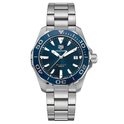 Picture of TAG Heur Aquaracer Quartz Stainless Steel Watch with Blue Dial