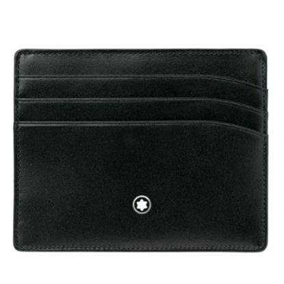 Picture of Montblanc Meisterstück 6-Card Leather Pocket Holder - Black