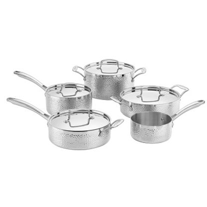 Picture of Cuisinart® Hammered Collection 9-Piece Stainless Cookware