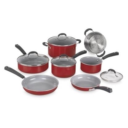 Picture of Cuisinart® Advantage Ceramica XT 11-Piece Cookware - Red