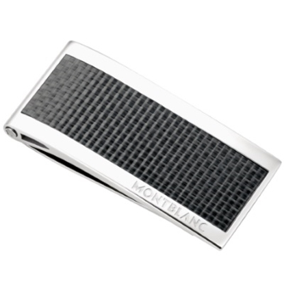 Picture of Montblanc Moneyclip Steel with Carbon Inlay
