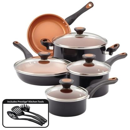 Picture of Farberware® Glide 12-Piece Cookware Set - Black