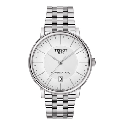 Picture of Tissot Carson Premium Powermatic 80 - Steel with Silver Dial