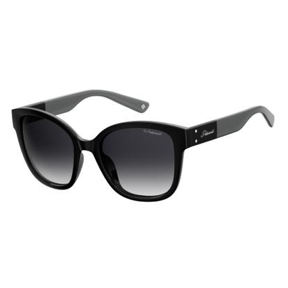 Picture of Polaroid Ladies' Square Sunglasses - Black/Gray