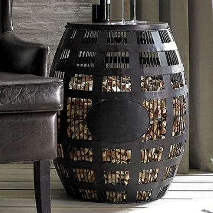 Picture of Wine Enthusiast Large Barrel Cork Catcher Side Table