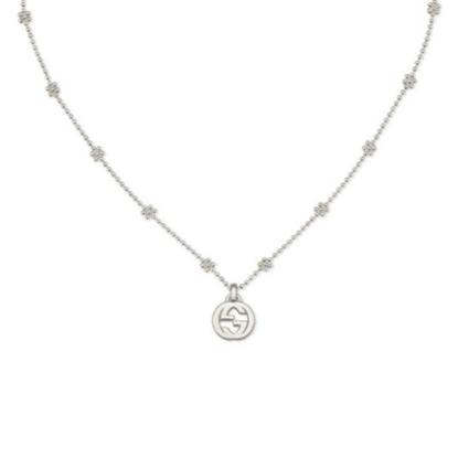 Picture of Gucci Interlocking G Pendant Small Necklace - Silver