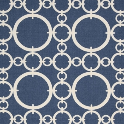 """Picture of Nourison Connected 7.9"""" x 10.1"""" Rug - Navy"""
