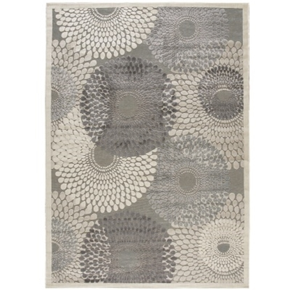"""Picture of Nourison Graphic Illusions 7'9"""" x 10'10"""" Rug -Grey"""