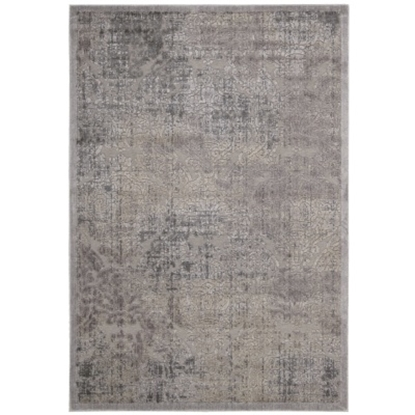 """Picture of Nourison Graphic Illusions 5'3"""" x 7'5"""" Rug - Grey"""