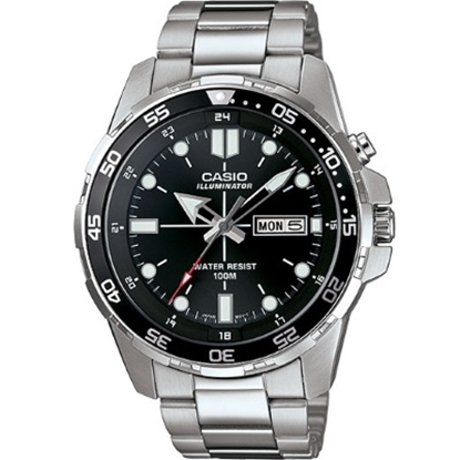 Picture of Casio Sports Men's Stainless Steel Watch with Black Dial