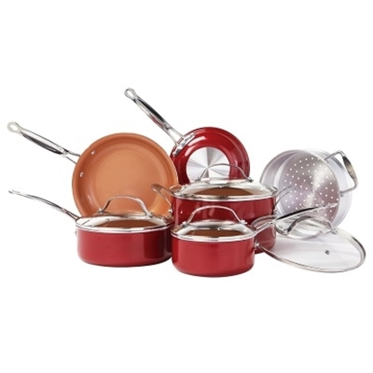 Picture of Telebrands® Red Copper 10-Piece Cookware Set