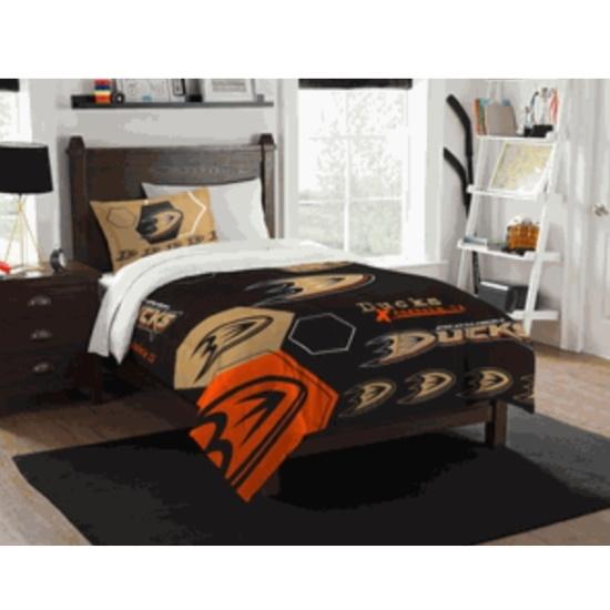 Picture of NHL Hexagon Twin Comforter Set - Ducks